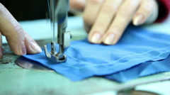 Sewing workshop, sewing clothes, close up 7 Stock Footage