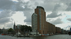 Hanseatic Trade Center, Hamburg Stock Footage