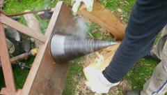 Splitting Wood Stock Footage