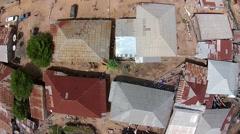 Africa aerial view Chaodepapel Varela Bissau Guinea Bisseau Stock Footage