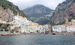 Stock Photo of famous italian summer seaside town on amalfi coast
