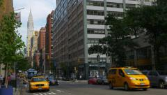 0576 UHD cabs in Lexington Ave, Stock Footage