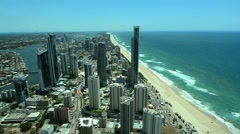 Aerial view of Surfers Paradise CBD Day in Gold Coast Australia 01 Stock Footage