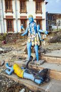 Stock Photo of shiva statue at pushkar lake