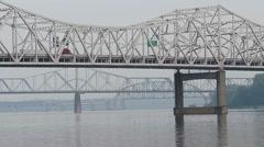 River Shipyards - Bridges and Trucks Stock Footage