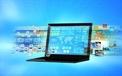 Stock Illustration of internet multimedia server
