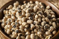 organic dry black eyed peas - stock photo