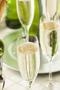 Stock Photo of alcoholic bubbly champagne for new years