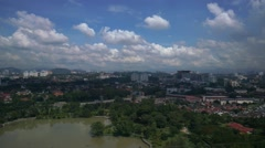 Time lapse of cloud scape during sunny day of Petaling Jaya Stock Footage