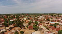 Africa aerial islamic mosque Chaodepapel Varela Bissau Guinea Bisseau Stock Footage