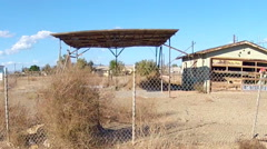 Derelict Buildings In Bombay Beach California Drive By Shot - stock footage