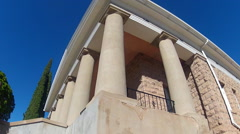 Roman Columns On Historic Neo-Classical Revivalist Building - stock footage