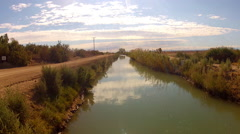 Medium Sized Irrigation Canal In Imperial County California Stock Footage
