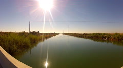 Canal Bringing Water From Colorado River To Imperial Valley- Zoom Stock Footage