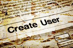Stock Photo of create user