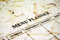 Stock Illustration of menu planner