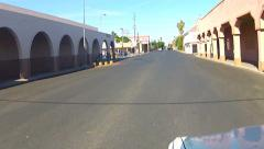 Viewpoint Driving In Border Town Calexico California Business District Stock Footage