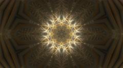 Orange Kaleidoscopic Stars Stock Footage