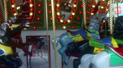 Horse carousel Stock Footage