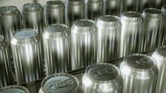 Aluminium cans production line. Looping. Clip 1. Stock Footage