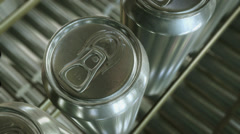 Aluminium cans production line. Looping. Clip 2. Stock Footage