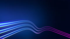 Three blue waving neon tubes. Abstract background. Loop. Stock Footage