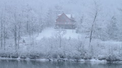 Snowy River House Stock Footage