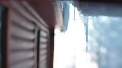 Winter Cabin Stock Footage