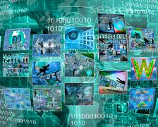 interface of the pictures - stock illustration