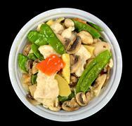 Moo goo gai pan Stock Photos