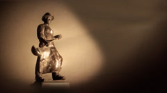 Small socrealist statues from the 60s. Stock Footage