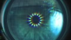Eye scanner. Access granted. Stock Footage