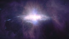 Flying towards the galaxy. - stock footage