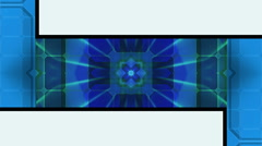 Cutout abstract geometric loop Stock Footage