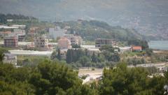 Split Croatia mountains beautiful views of the sea Stock Footage