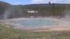 141203b pool in yellowstone - stock footage