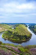 Saar loop at mettlach. a famous view point. Stock Photos