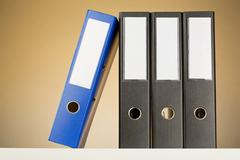 business archives - folders - stock photo