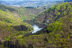 saar loop at mettlach. a famous view point. - stock photo