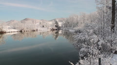 Winter Lake - stock footage