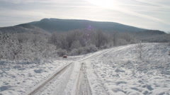 Winter in the Mountains Stock Footage