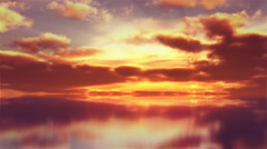 Timelapse of sunset clouds reflecting in water. - stock footage