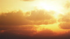 Timelapse of sunset clouds. - stock footage