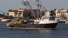 Commercial Fishing Boat Stock Footage
