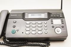 Telephone and fax. Stock Photos