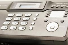 telephone and fax. - stock photo