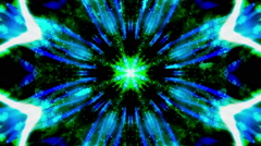 Blue Green Cosmic VJ Loop - stock footage