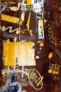 Bumper stickers and graffiti at the Garosugil Street - stock photo