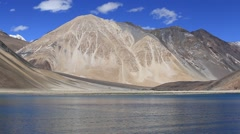 Pangong Lake, Ladakh, India Stock Footage