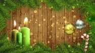 Stock Video Footage of Christmas Wall 4K